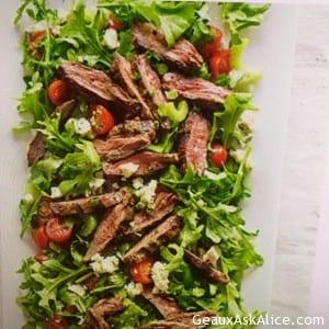 Delicious Tomato, Bleu Cheese Steak Salad