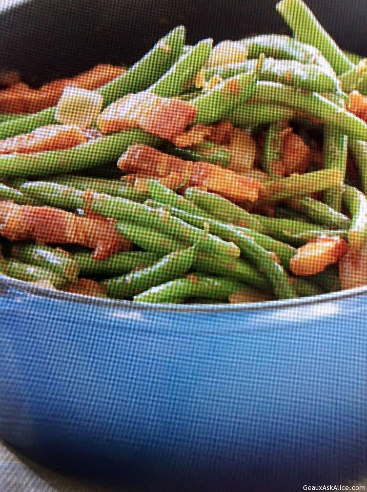 green beans with bacon and tomatoes save print flavorful green beans ...