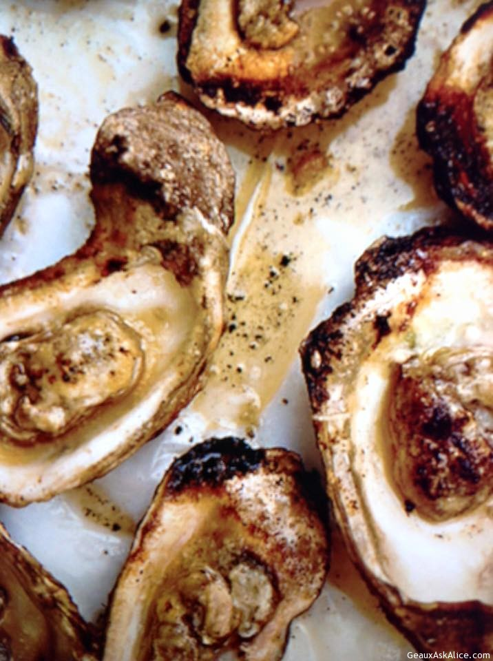 Grilled Oysters With Spicy Herb Butter