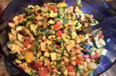 Veggie, Edamame and Chickpea Medley Salad