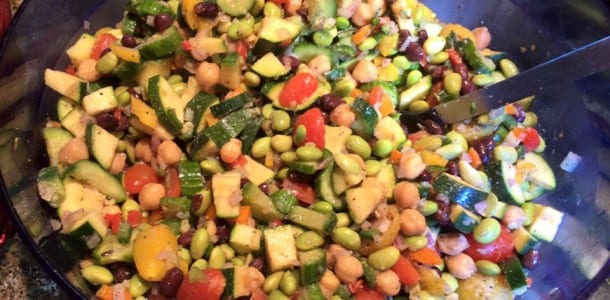 Veggie, Edamame and Chickpea Medley Salad