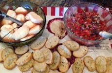Alice's Marinated Mozzarella and Bruschetta