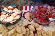 Alice's Marinated Mozzarella And Bruschetta