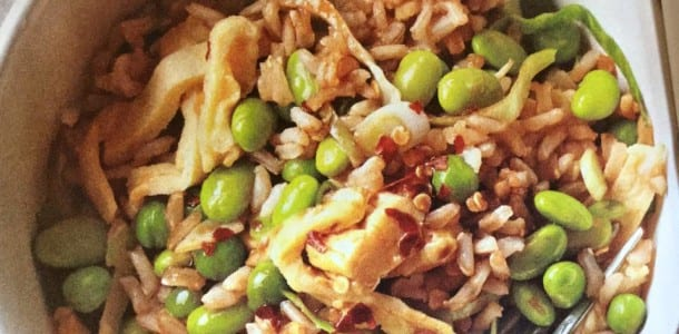 Green Veggie Fried Brown Rice