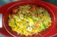 Lemony Shrimp And Assorted Peppers Pasta