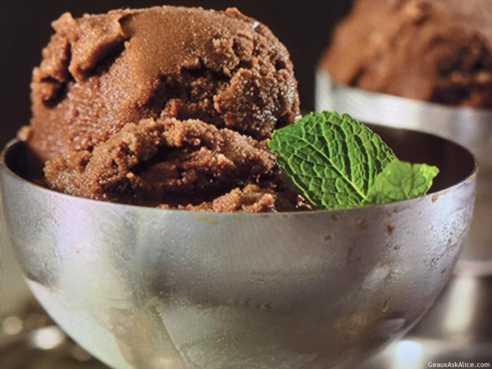 Minty Chocolate Sorbet