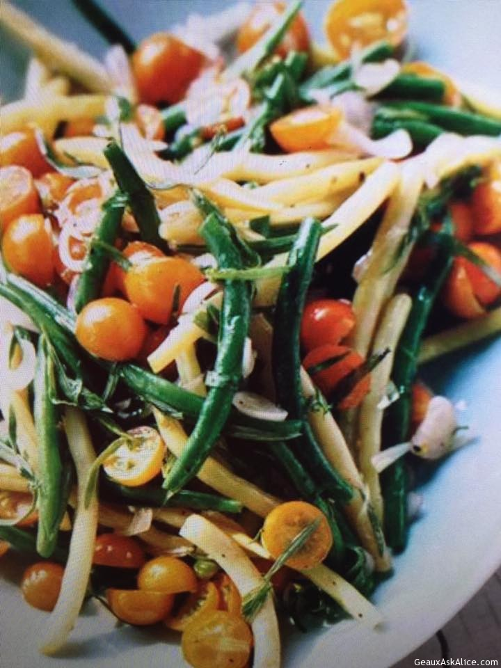 Fresh Green Bean And Creole Tomato Salad With Dressing