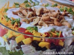Layered Caribbean Chicken Salad