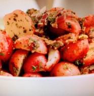 Potato Salad with Warm Herb-Bacon Vinaigrette