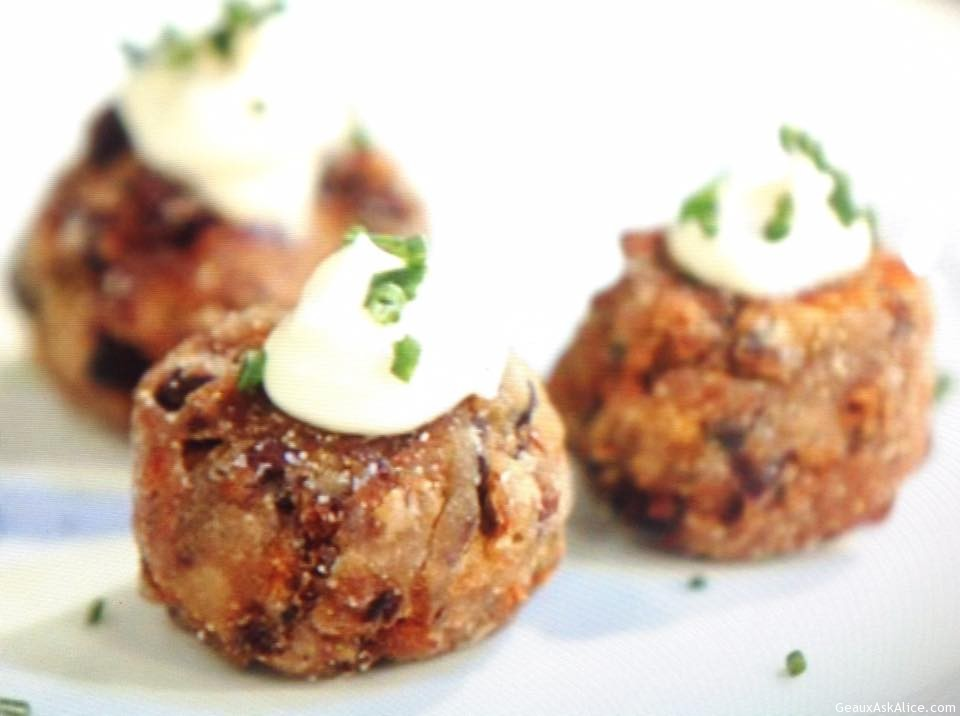 Black Bean Fritters With Spicy Sauce