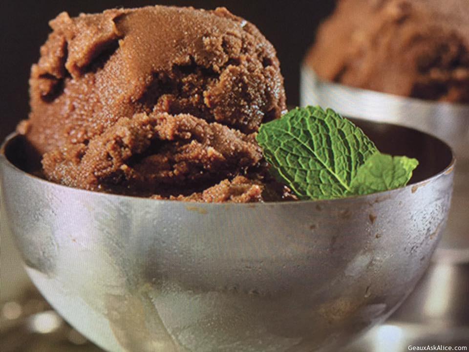Minty Chocolate Sorbet