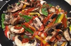 Spicy Chicken and Beef Medley Stir-Fry
