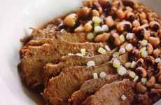 CROCK POT SPICY BRISKET WITH TEXAS CAVIAR