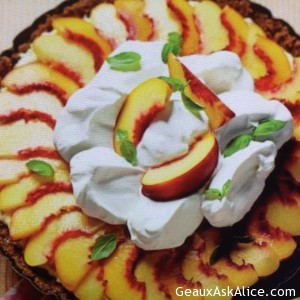 Peachy Icebox Pie