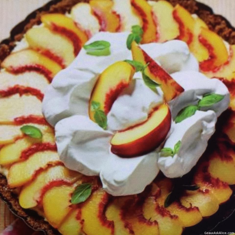 Peachy Icebox Pie