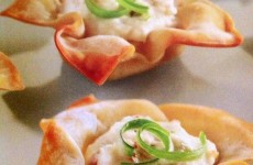 TOASTY BAKED CRAB RANGOON WONTONS