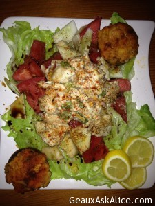 Creamy Lump Crabmeat Salad with Tomatoes or Stuffed Mushrooms