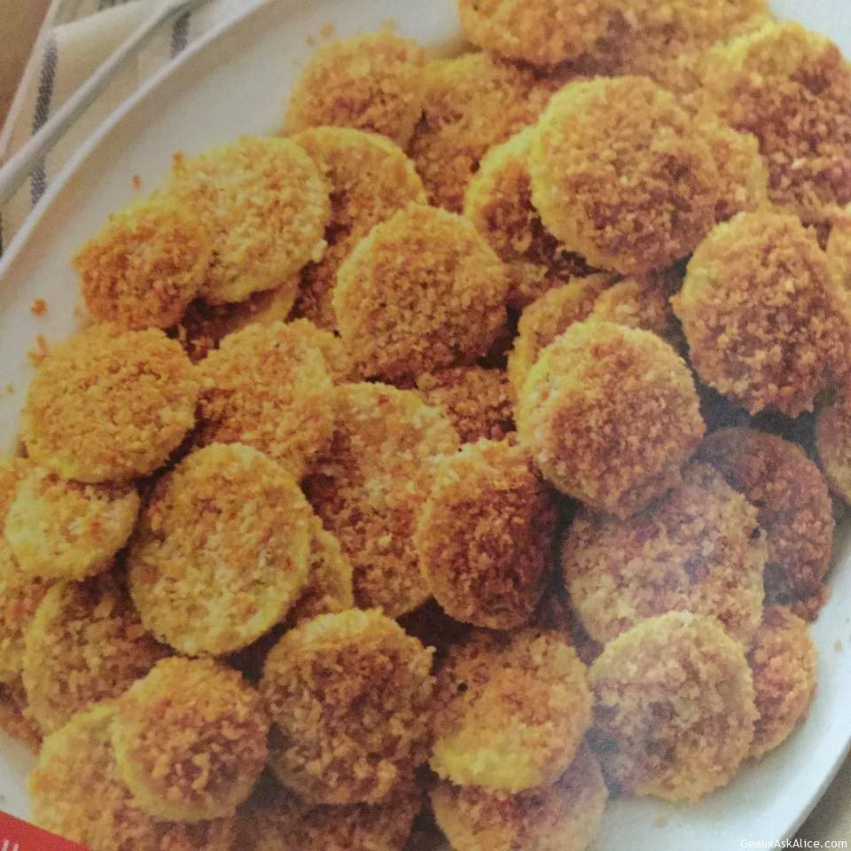 Baked Parmesan Crusted Squash Rounds - Geaux Ask Alice!