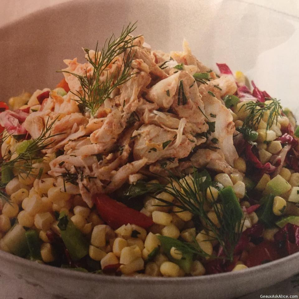 Crab And Corn Macque Choux Salad