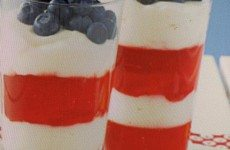 Festive Red, White and Blue Parfaits