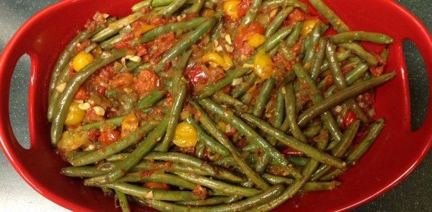 Lemony Haricot Vert with Grape Tomato Relish