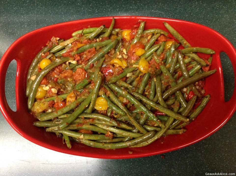 Lemony Haricot Vert With Grape Tomato Relish