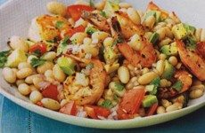 Terrific Shrimp, Avocado and White Bean Salad