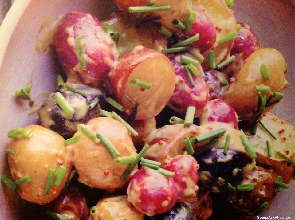 Warm New Potatoes With Mustard Dressing