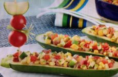 Zesty Zucchini And Corn Relish Pirogues