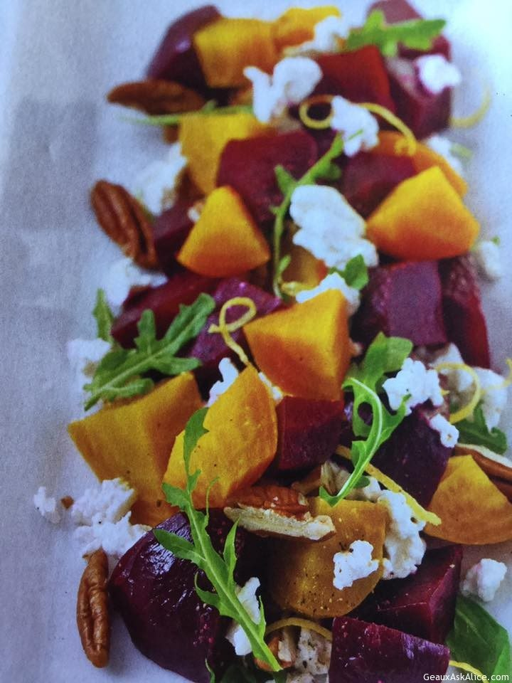 Delicious Roasted Beets And Cheese Salad