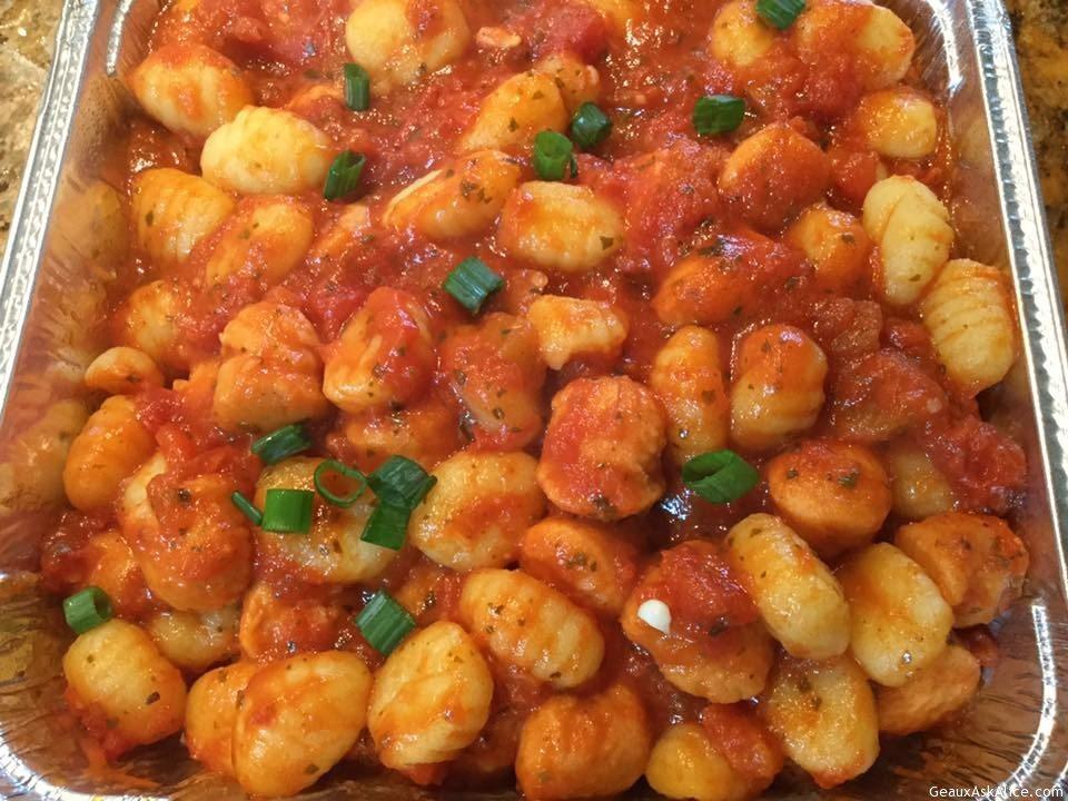 Sweet Potato Gnocchi With Marinara Sauce
