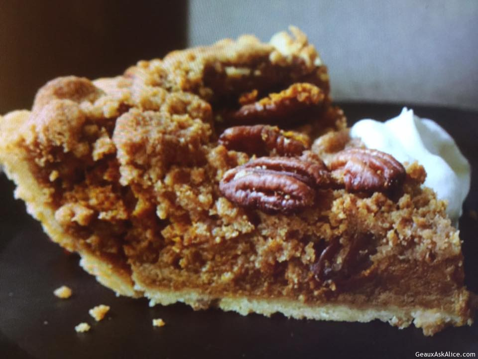Bourbon Pecan Pumpkin Pie - Geaux Ask Alice!