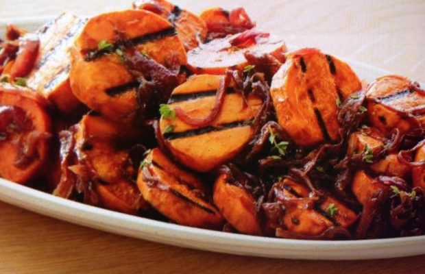 Caramelized Onion And Sweet Potato Salad