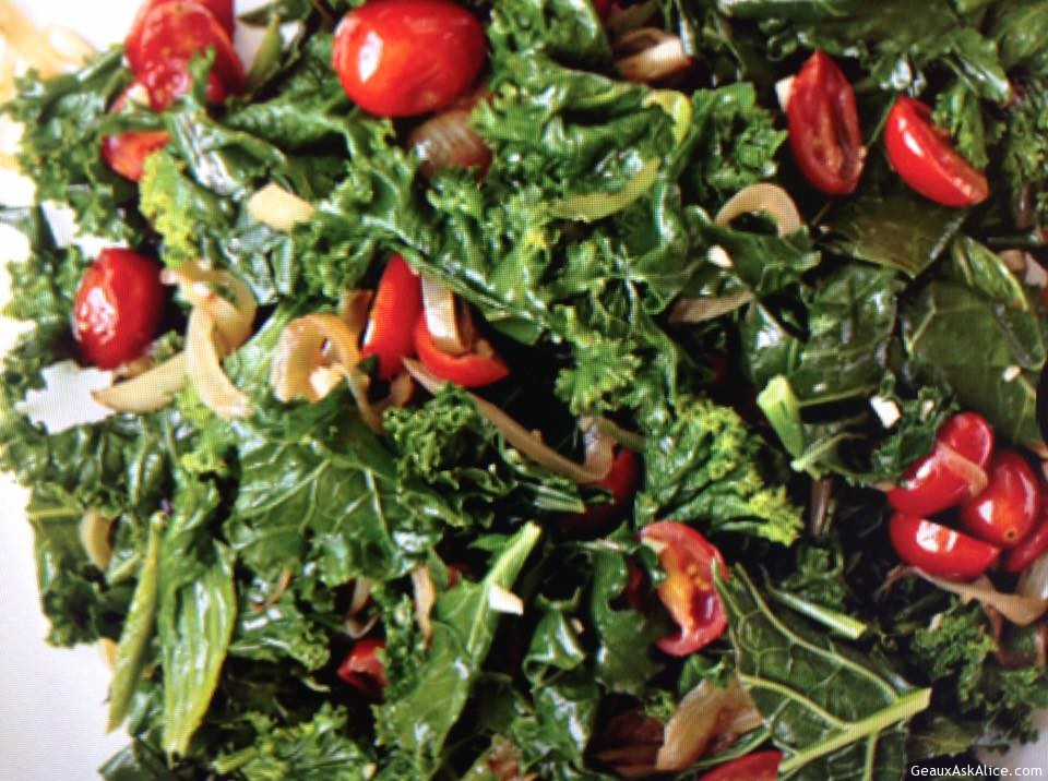 Cherry Tomatoes With Braised Greens