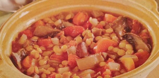 Crock-Pot Lentil and Portabella Soup