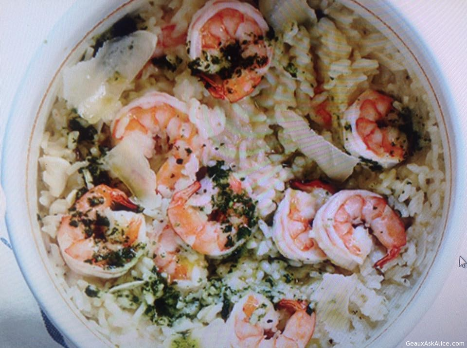 Easy Baked Shrimp Risotto