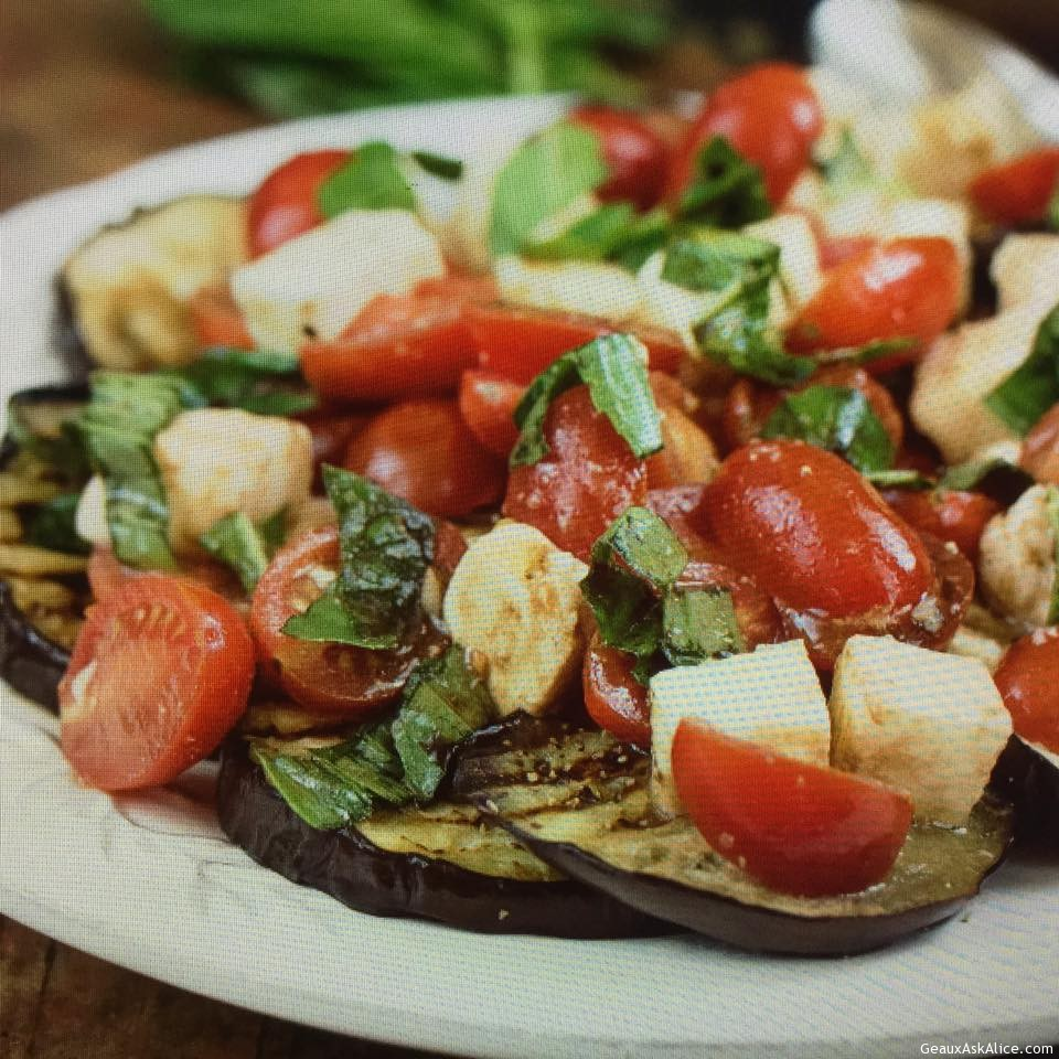 Grilled Eggplant Caprese Style