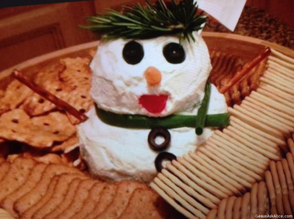 Mr. Snowman Cheese Ball