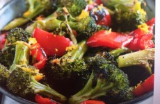 Asian Roasted Broccoli and Peppers