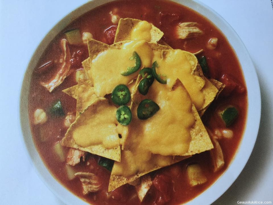 Crockpot Chicken Nacho Soup