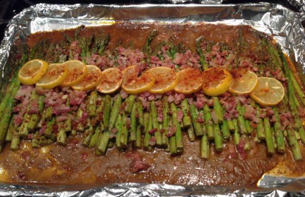 Lemony Roasted Asparagus With Pancetta
