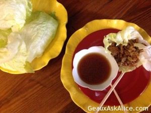 Alice's Version of PF Chang's Chicken Lettuce Wraps