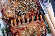 Garlic Crusted Rack Of Lamb