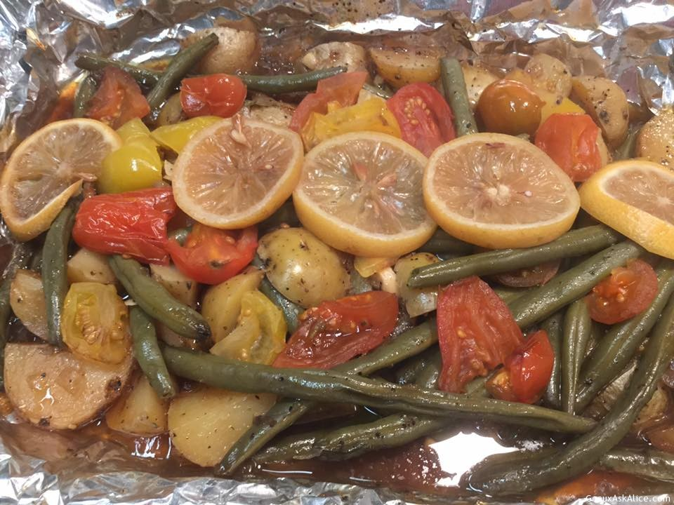 Lemony Baby Yukon And Green Bean Medley