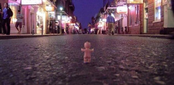 King Cake Baby says good-bye until next year! Everyone get home safe!