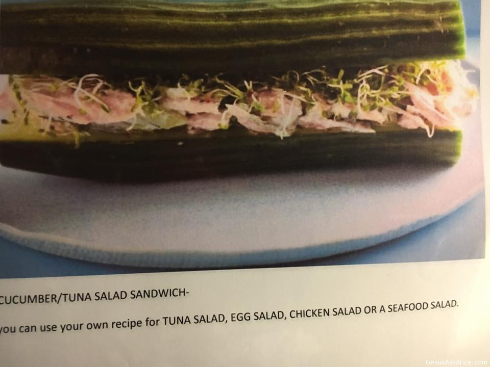 Cucumber/Tuna Salad Sandwich