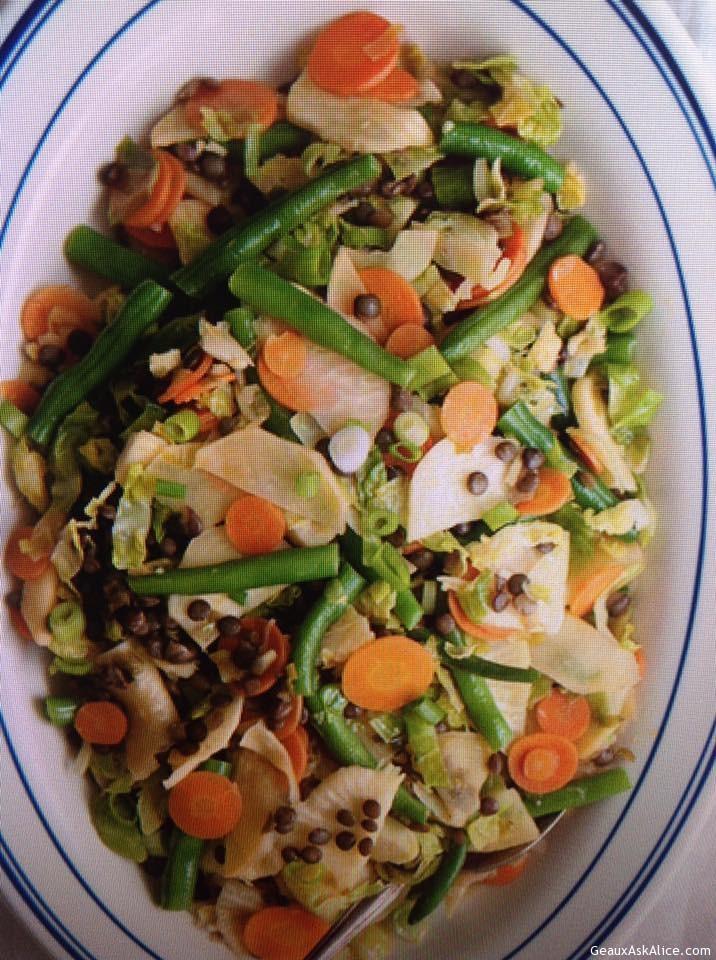 Veggie Stir-Fry With Lentils