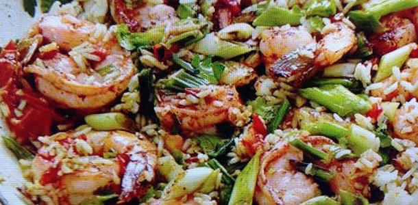 Ragin Cajun Shrimp and Rice