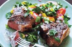 Pan Sauté Lamb Chops with Minty Sauce