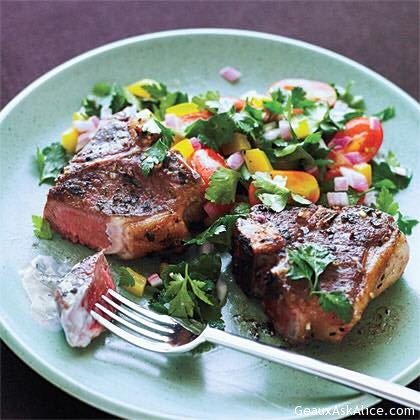 Pan Sauté Lamb Chops With Minty Sauce